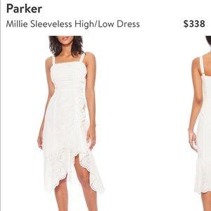 Parker Millie sleeveless high/low midi dress
